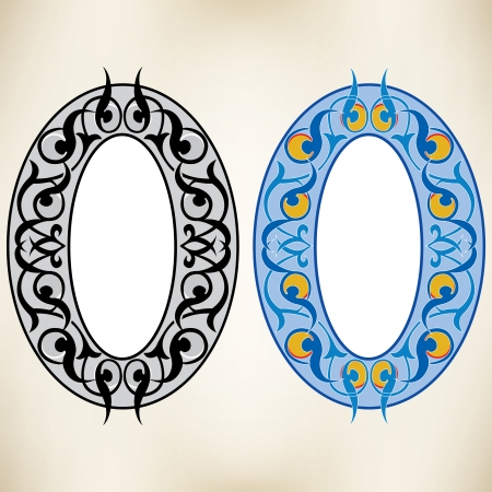 Oval decoration design elements Vector