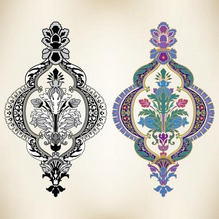 Oriental style, decoration design elements
