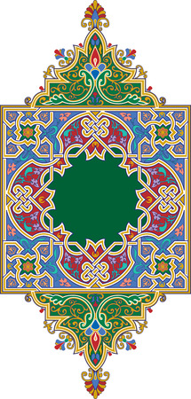 Ornamental eastern design, colored Vector