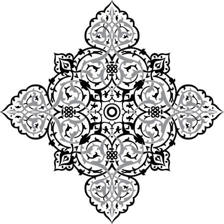 Oriental ornament, monochrome Vector