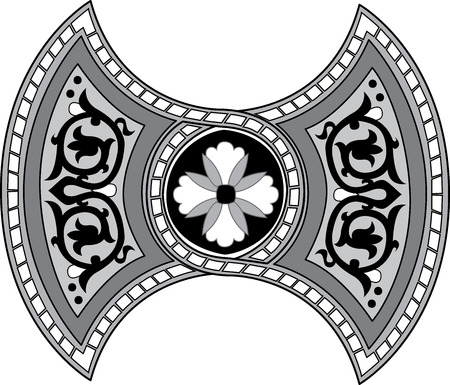 Oriental ornament, monochrome Illustration