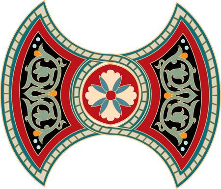 Oriental ornament, colored Stock Vector - 23185563