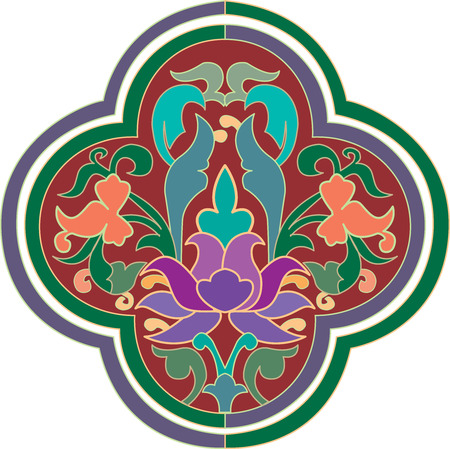 Oriental ornament, colored 向量圖像