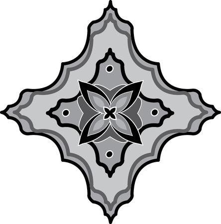 Oriental ornament, monochrome Stock Vector - 23185580