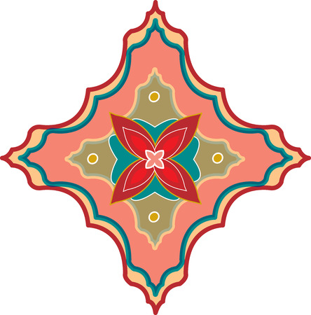 Oriental ornament, colored Vector