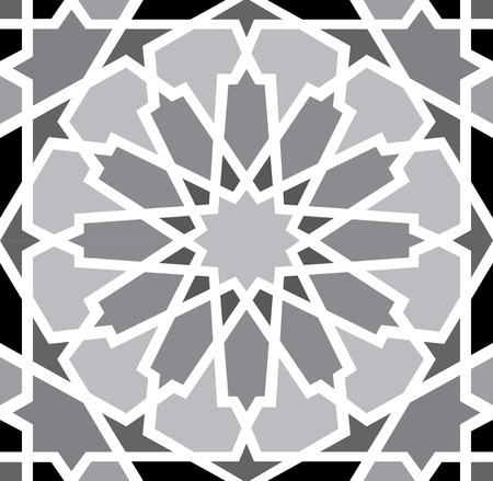Arabesque seamless pattern in editable vector Vector