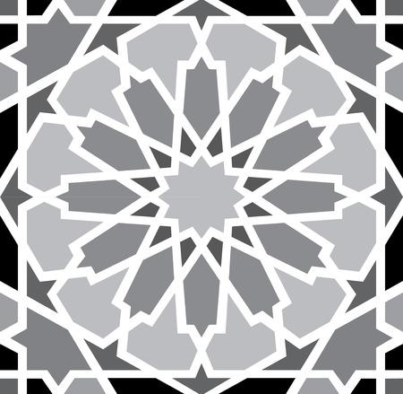 muslim fashion: Arabesque seamless pattern in editable vector
