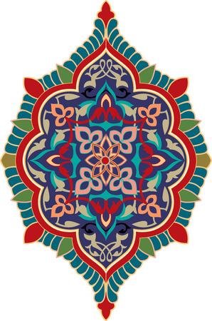 Oriental ornament, colored Illustration