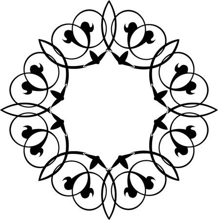 floral ornament, monochrome Vector