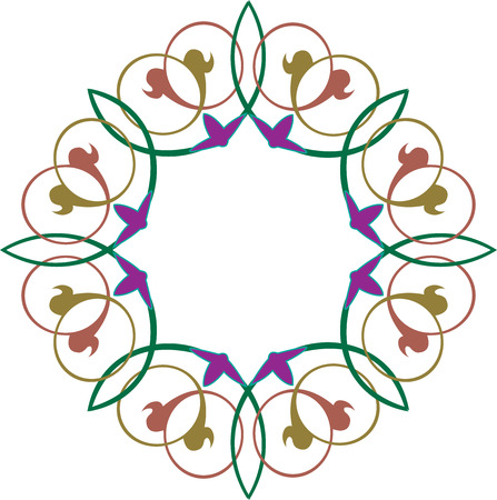 floral ornament, colored Vector