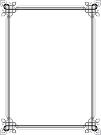 Elegant vector lines, border frame Stock Vector - 23185620
