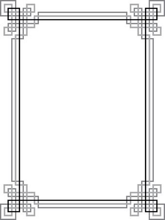 elegant vector: Elegant vector lines, border frame