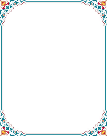 Damask flourish border frame Vector