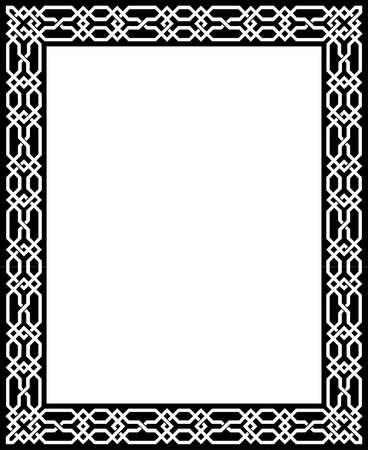 Elegant vector lines, border frame, thick Stock Vector - 23185742