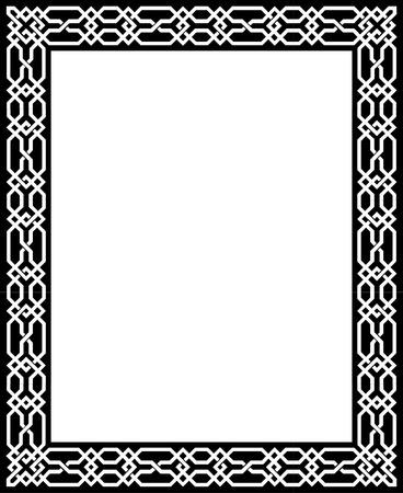 antique frames: L�neas vectoriales elegante, marco, frontera gruesos