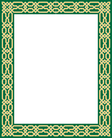 Elegant vector lines, border frame, thick Vector