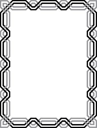Elegant vector lines, border frame Vector