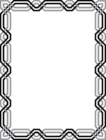 Elegant vector lines, border frame Stock Vector - 23185744