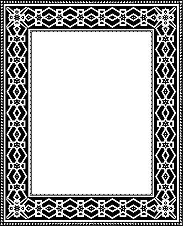 Oriental Damask border frame Stock Vector - 23185746