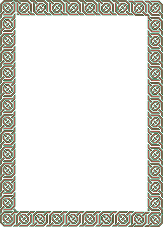 Simple Arabesque colored frame Vector
