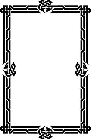 Elegant vector lines, border frame, thin Vector