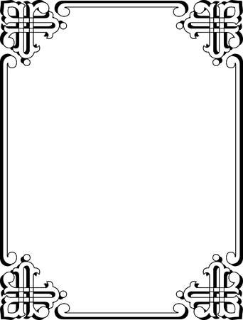 Simple corner border frame Vector