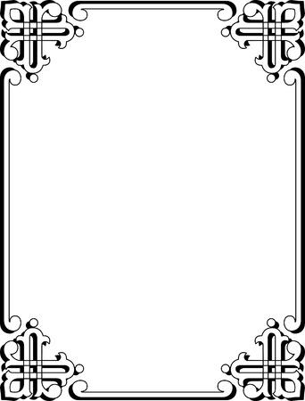 color pages: Simple corner border frame