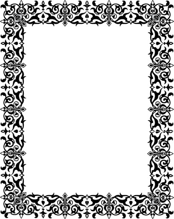 Oriental ornament border frame Vector
