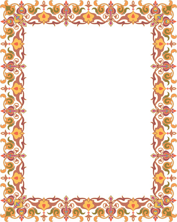 Oriental ornament border frame Stock Vector - 23185791