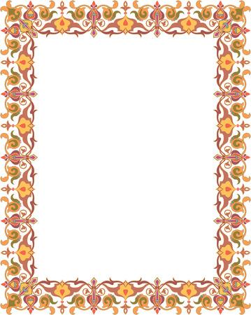 border frame: Oriental ornament border frame
