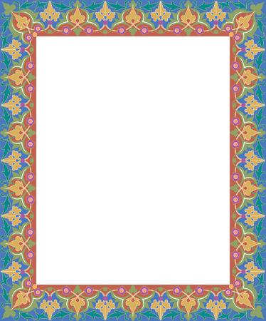 Oriental ornament, colored Vector