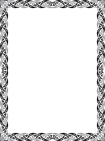 Cadre de bordure élégante Banque d'images - 23185817