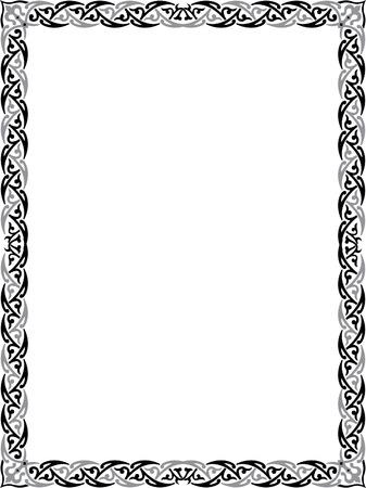 cenefas decorativas: Marco de la frontera elegante Vectores