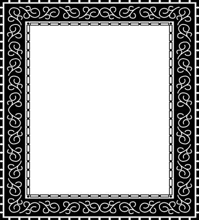 Simple photo frame, monochrome Vector