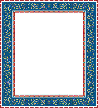 Simple Arabesque colored frame, colored Vector