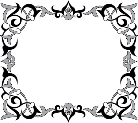 floral ornament, monochrome Vector