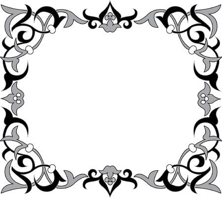floral ornament, monochrome Stock Vector - 23185850