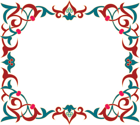 floral ornament, colored Stock Vector - 23185853