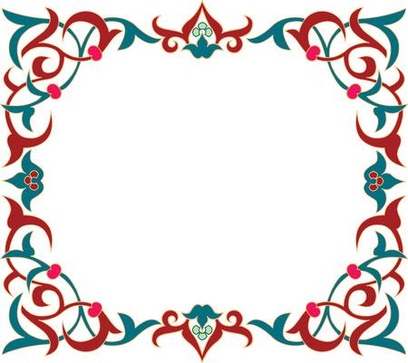 antique frames: ornamento floral, de color