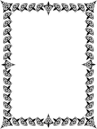 Classic blocks photo frame, monochrome Vector