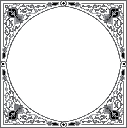 Ornamental decorative, circle design Vector