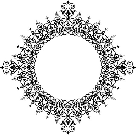 Ornamental decorative, circle monochrome