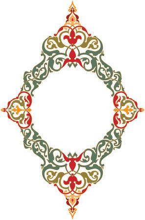 Conception ornementale de l'Est, cadre de frontière, de couleur Banque d'images - 23185874
