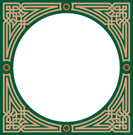 Islamic Arabesque circul frame Vector