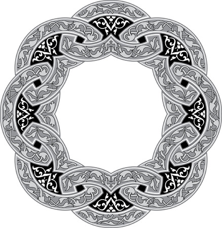 Ornamental decorative, circle monochrome Vector