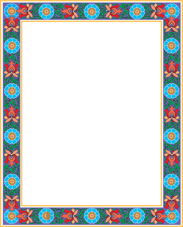 Flourish border frame, colored Vector