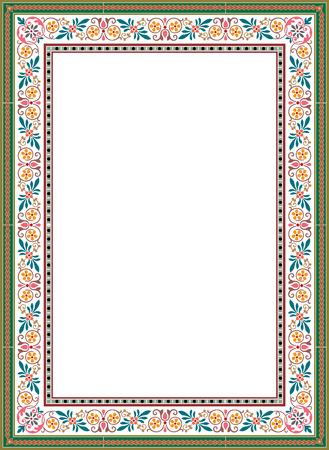 꽃 장식 테두리 프레임, 컬러