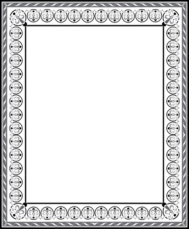 Elegant ornament border frame Stock Vector - 23185923