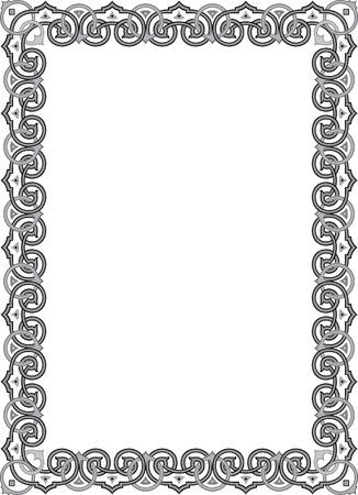 Classical ornament photo frame, monochrome Stock Vector - 23185931