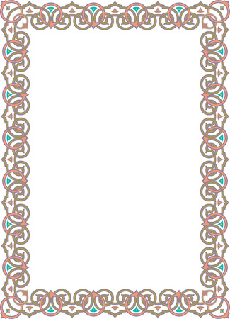 Classical ornament photo frame, colored Vector